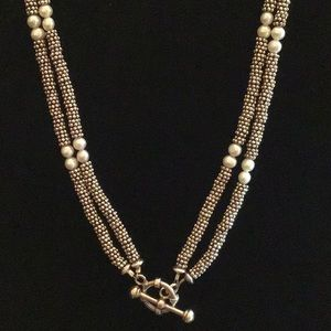 Jewelry - 💗Sterling & FWP 2 strand Necklace